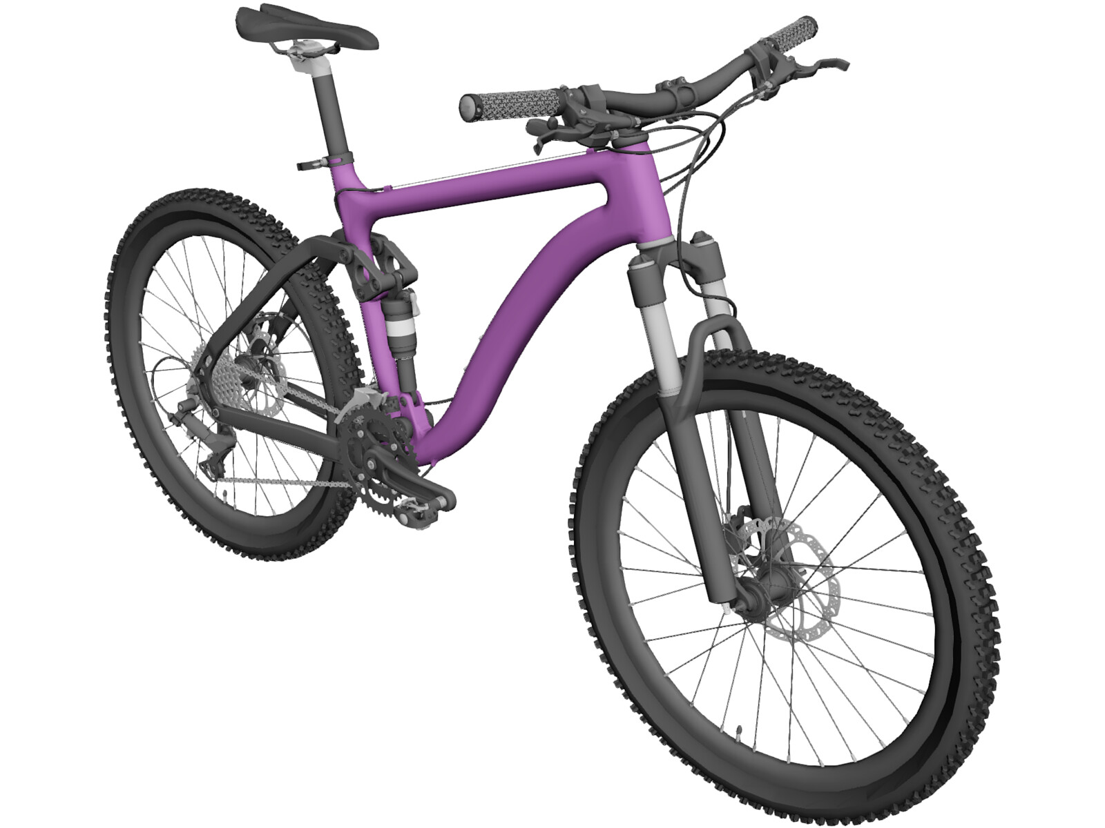 Bicycle Enduro 3D Model
