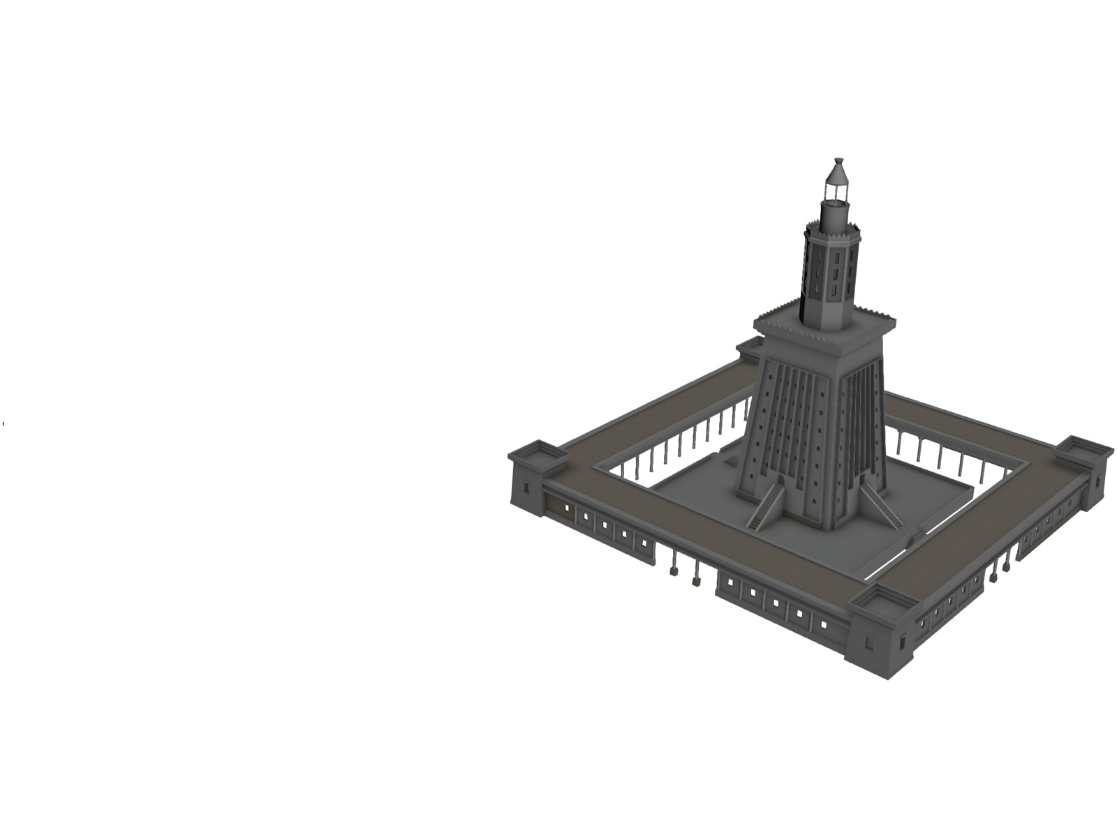 Alexandria Lighthouse 3D Model