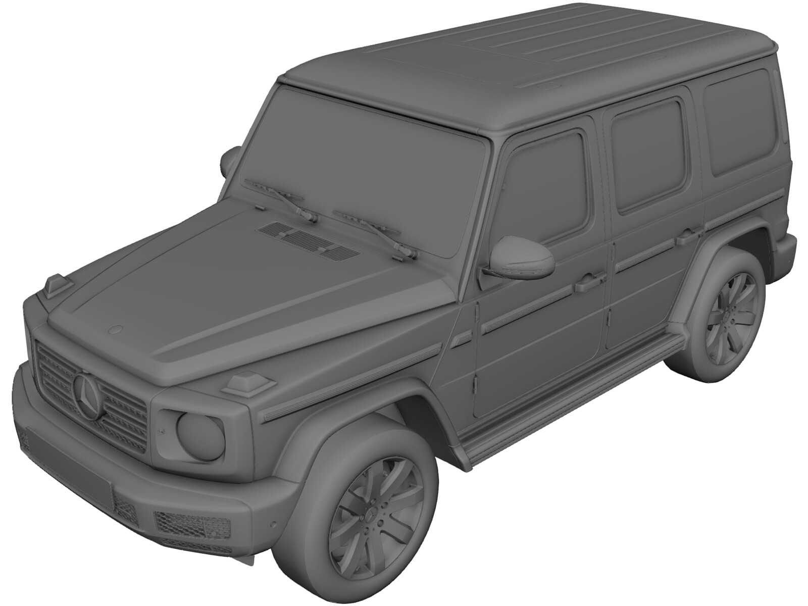 Mercedes-Benz G500 G-Class (2019) 3D Model