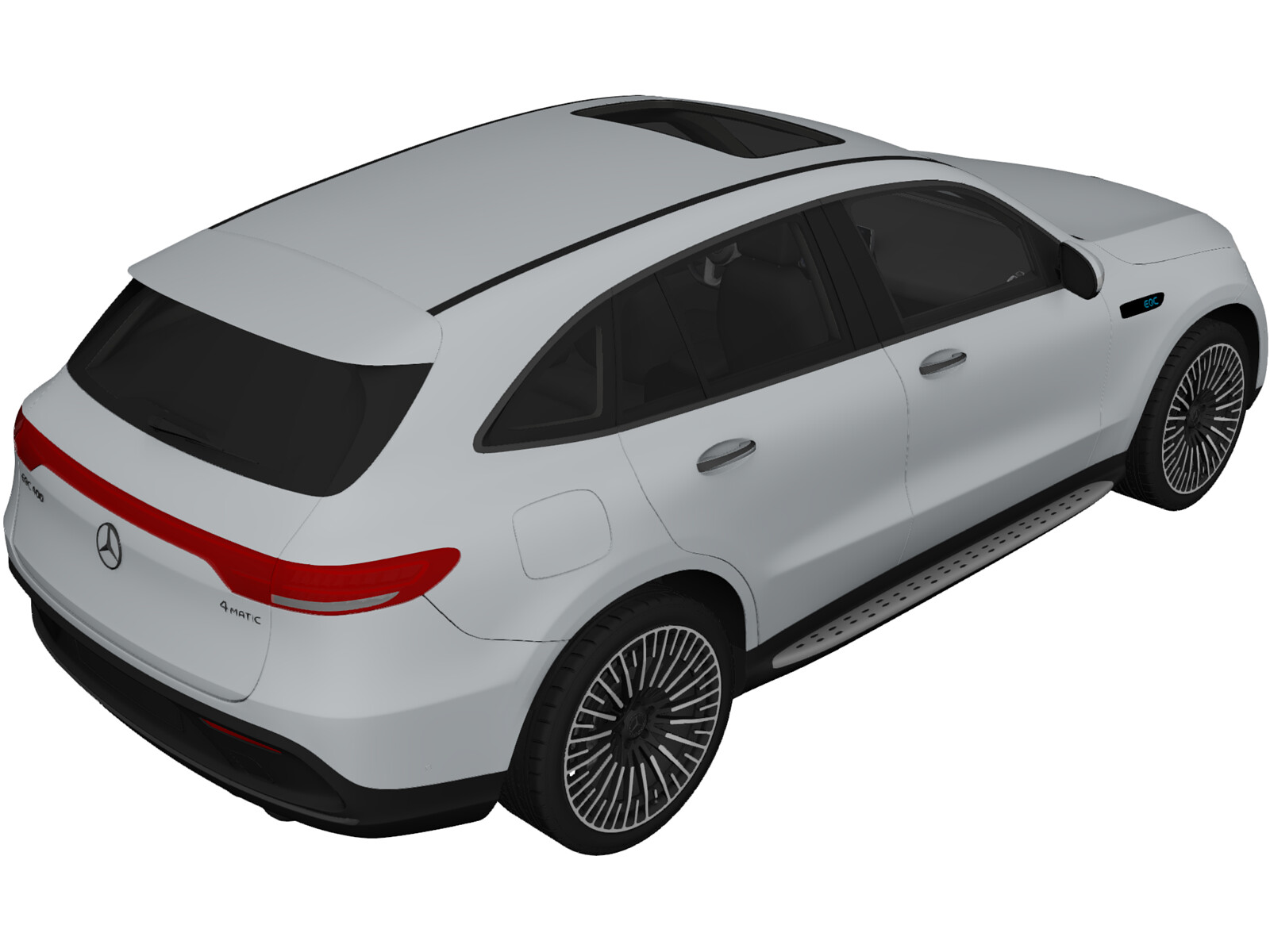 Mercedes-Benz EQC 400 (2020) 3D Model