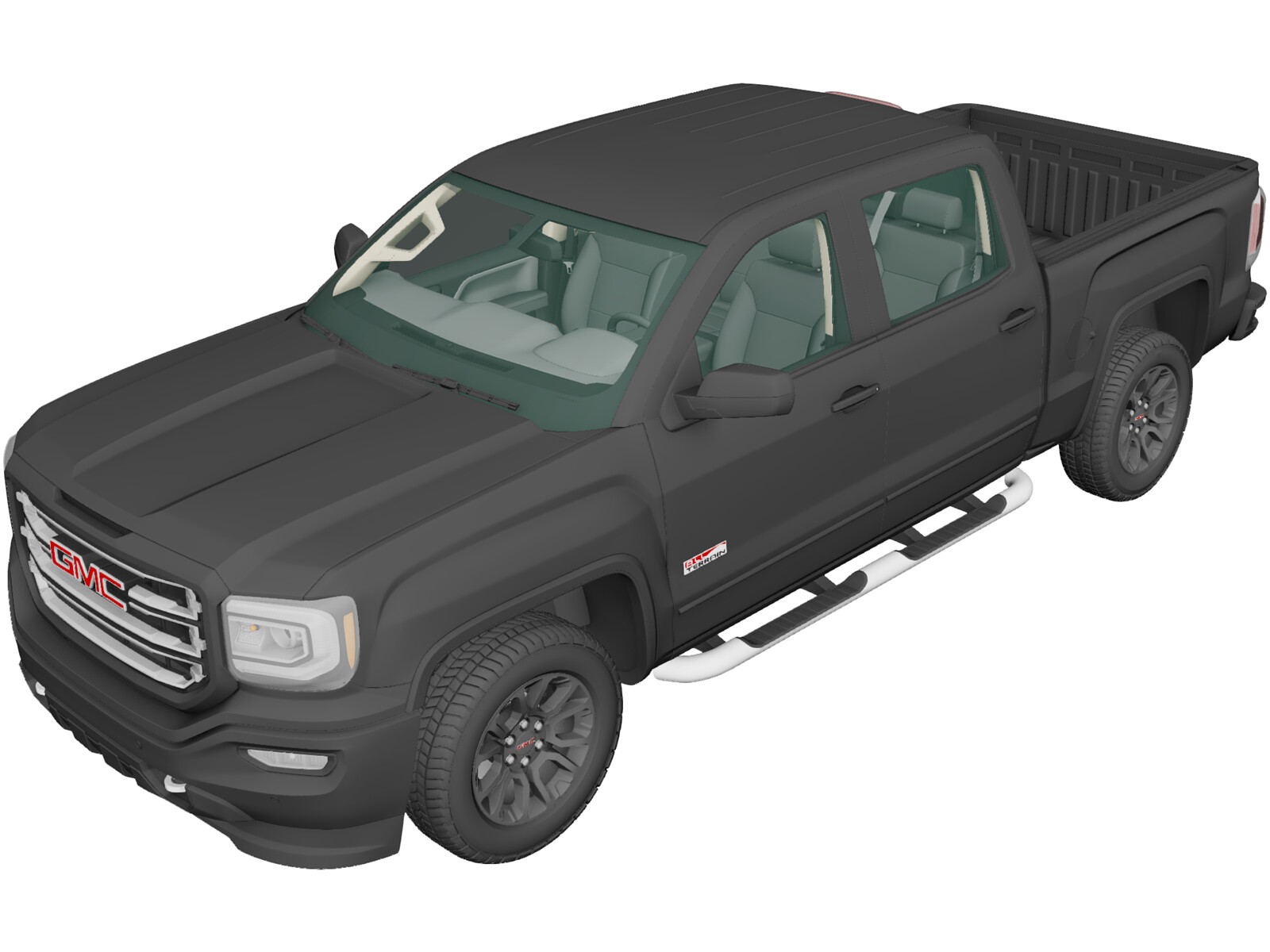 GMC Sierra 1500 CrewCab ShortBox AllTerrain (2017) 3D Model
