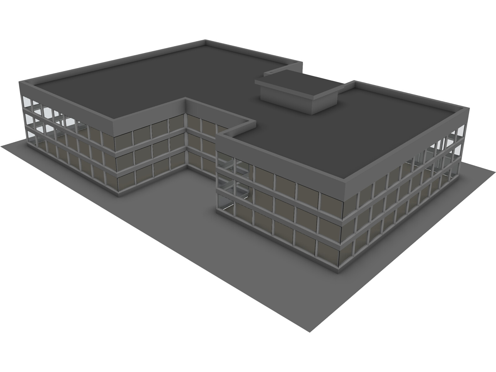 Commercial center 3d model 3d cad browser for Commercial building design software