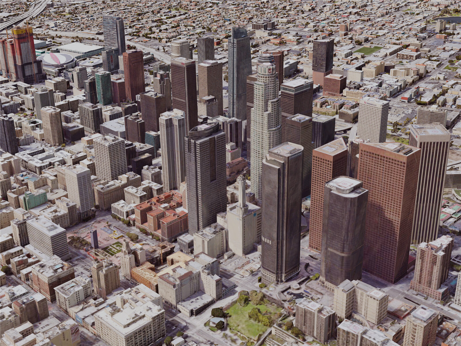 Los Angeles Downtown, California, USA (2019) 3D Model