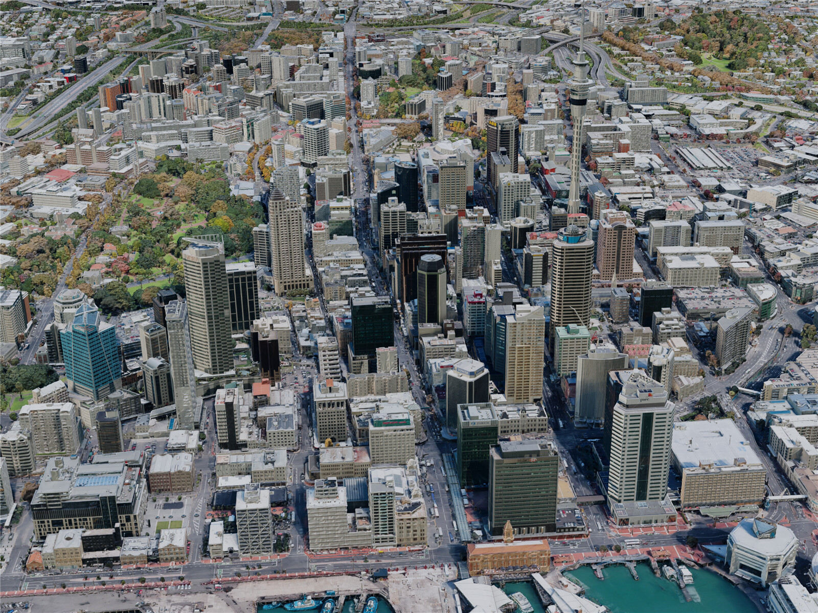 Auckland City, New Zealand (2019) 3D Model