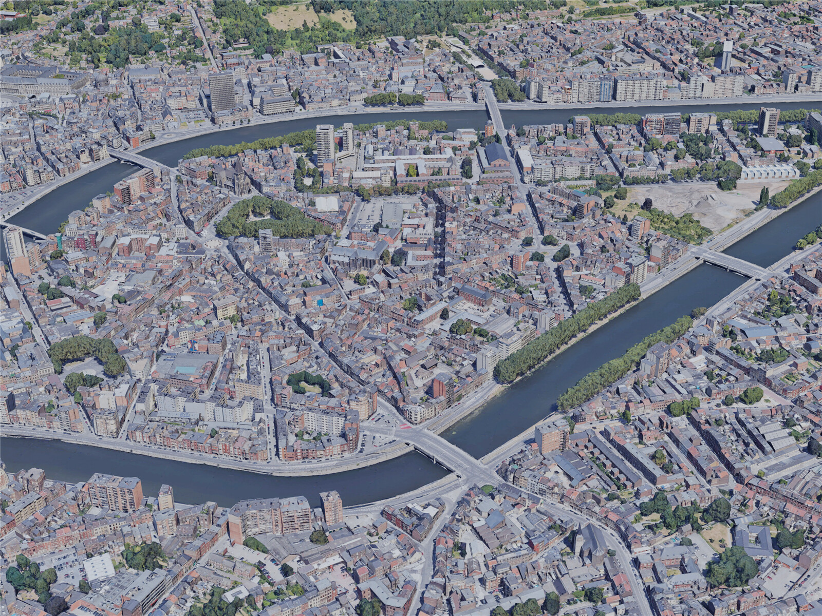 Liege City, Belgium (2019) 3D Model