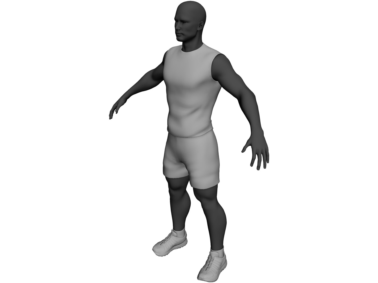 Athlete Male 3D Model