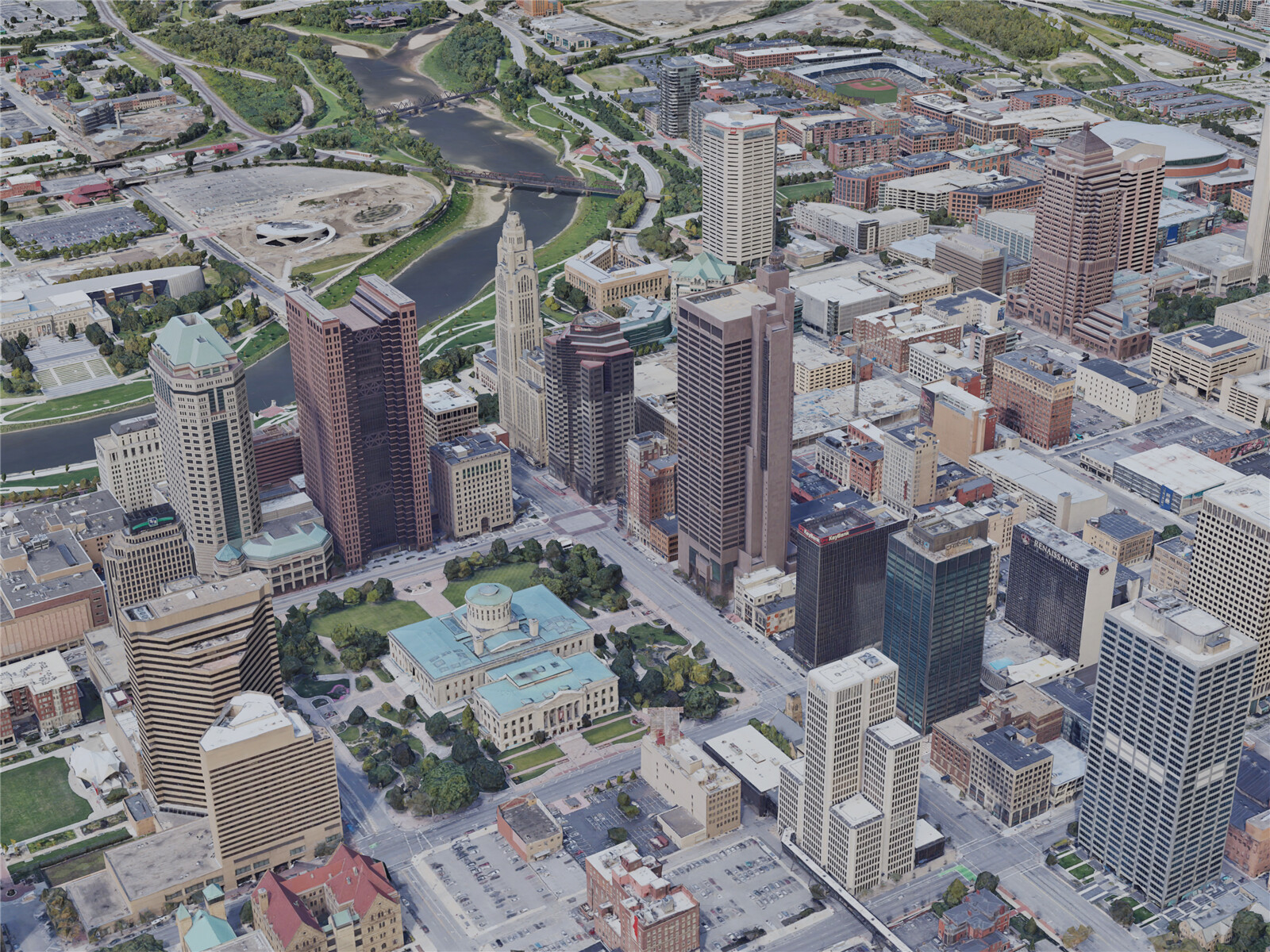 Columbus City, OH, USA (2019) 3D Model