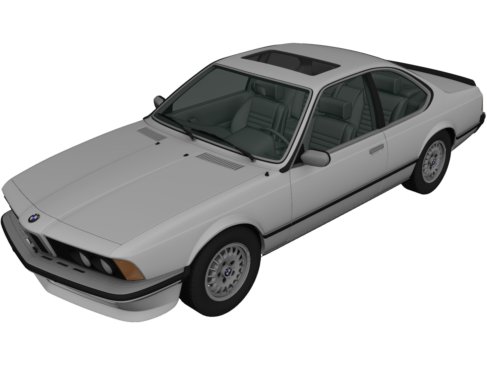 Bmw 6 Series 635csi E24 1978 3d Model 3d Cad Browser