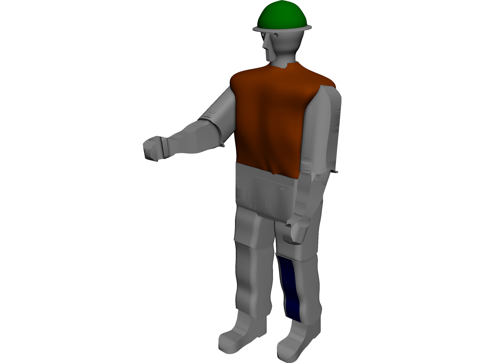 Working Man 3D Model
