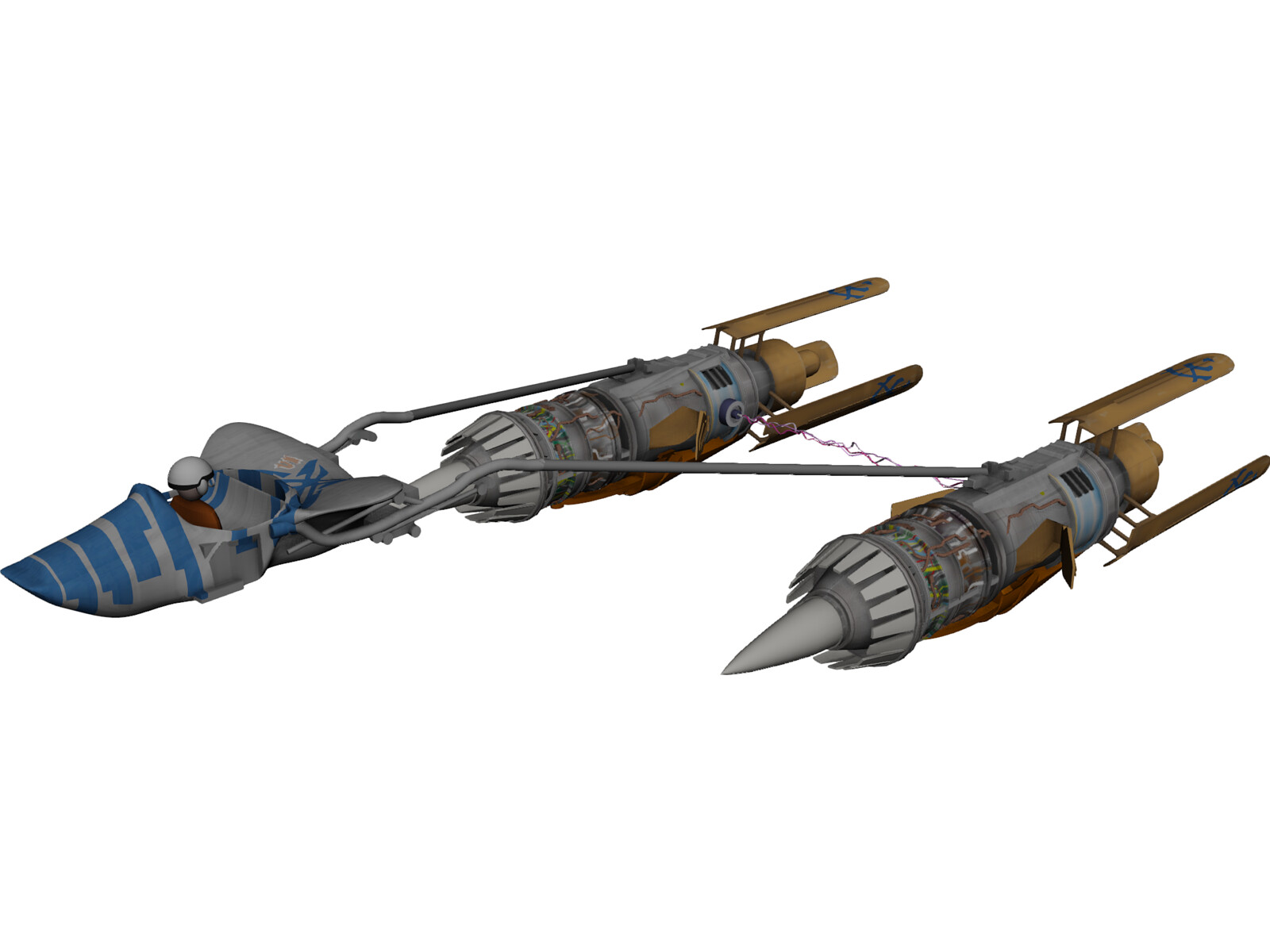 Star Wars Anakin Pod Racer 3d Model 3d Cad Browser