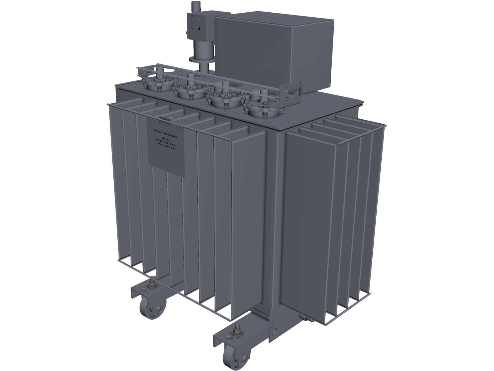 Power Transformer 160kVA 3D Model