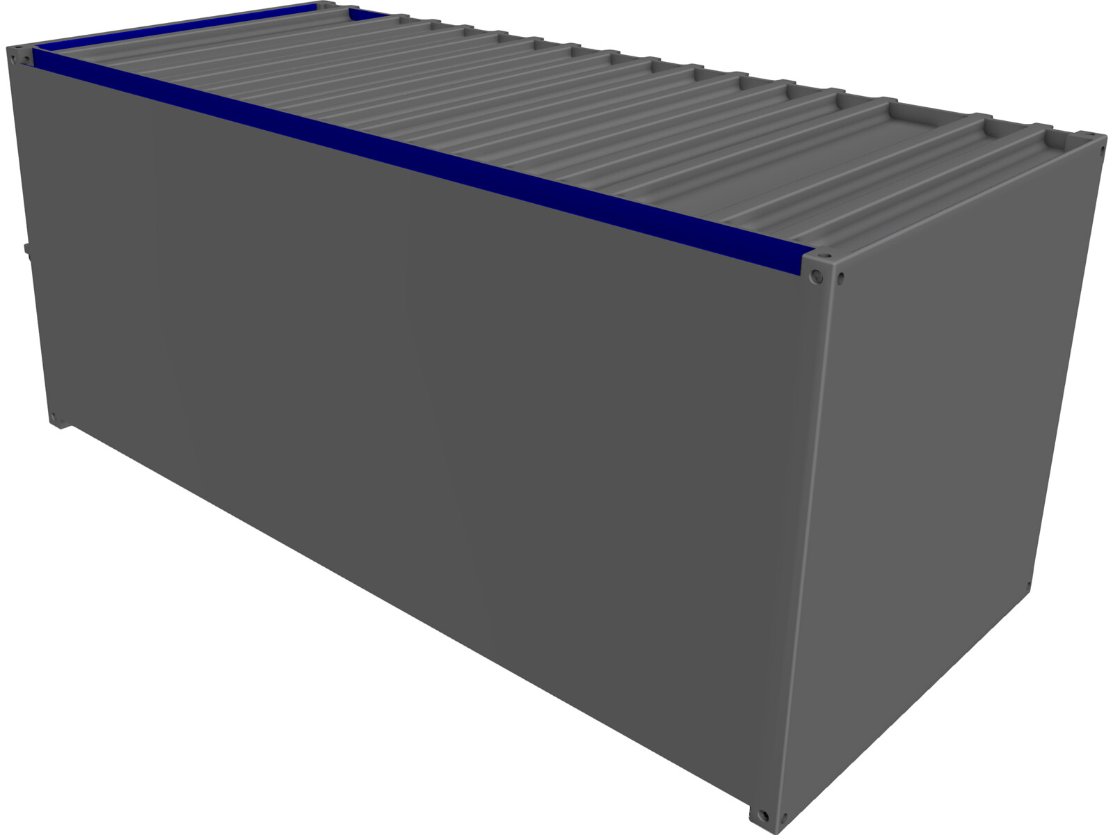 Shipping Container 3d Model Download 3d Cad Browser
