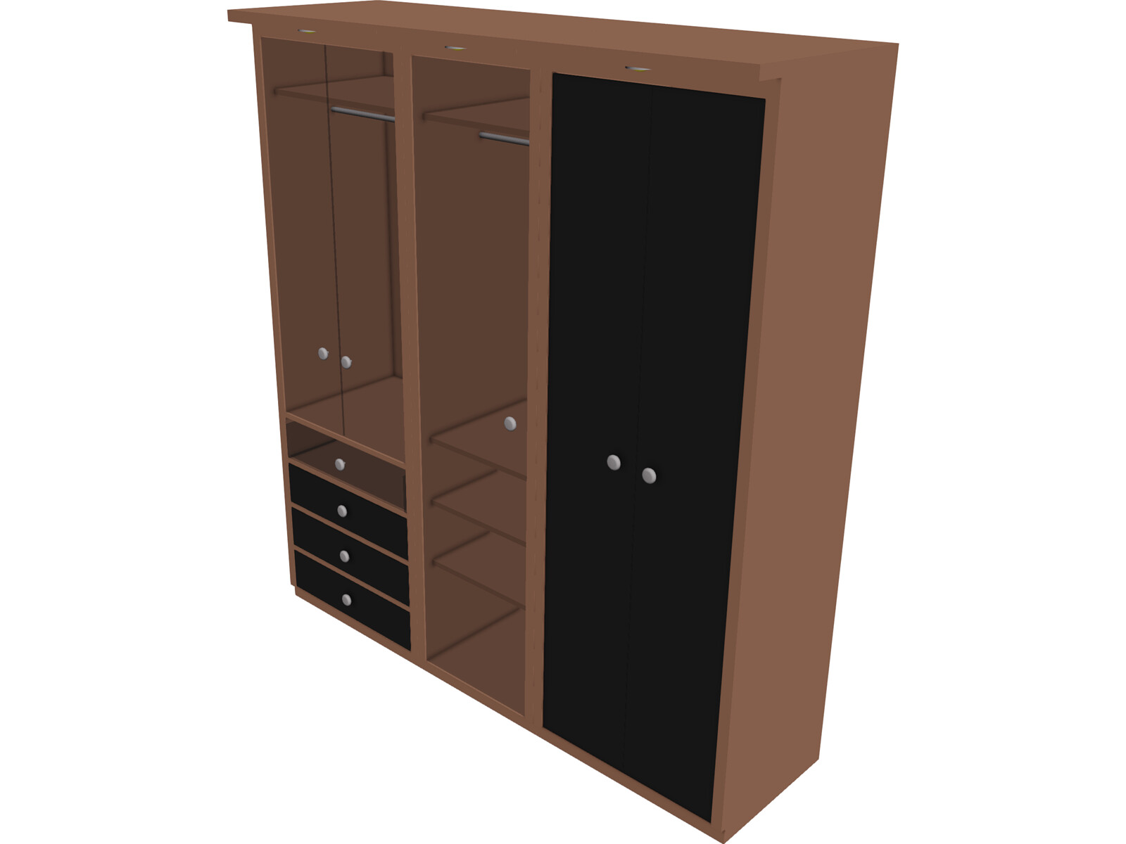 Closet 3d model 3d cad browser for Muebles oficina 3ds max