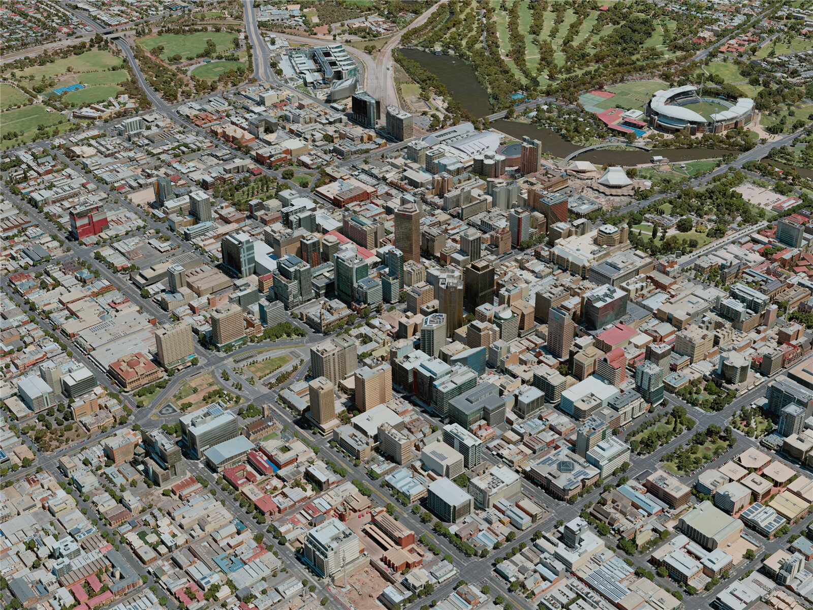 Adelaide City, Australia (2020) 3D Model