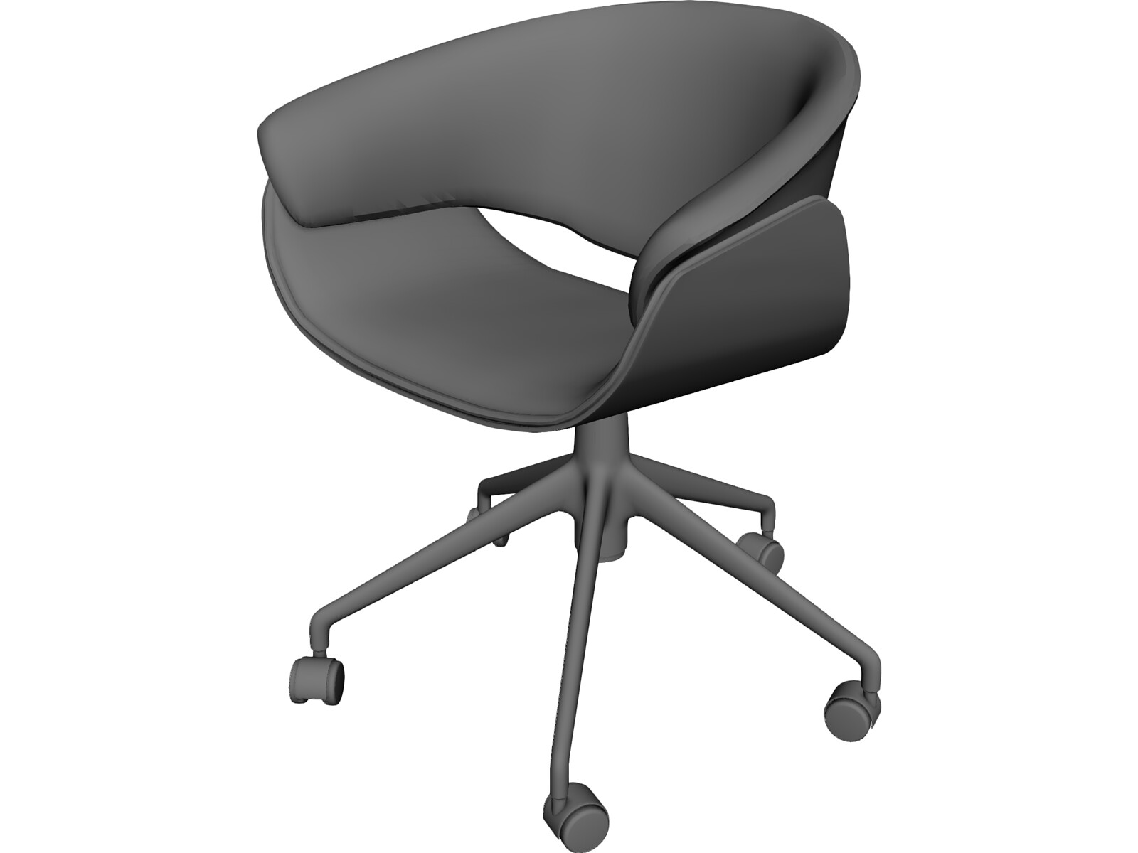 Sina chair 3d model 3d cad browser for Chair 3d model maya