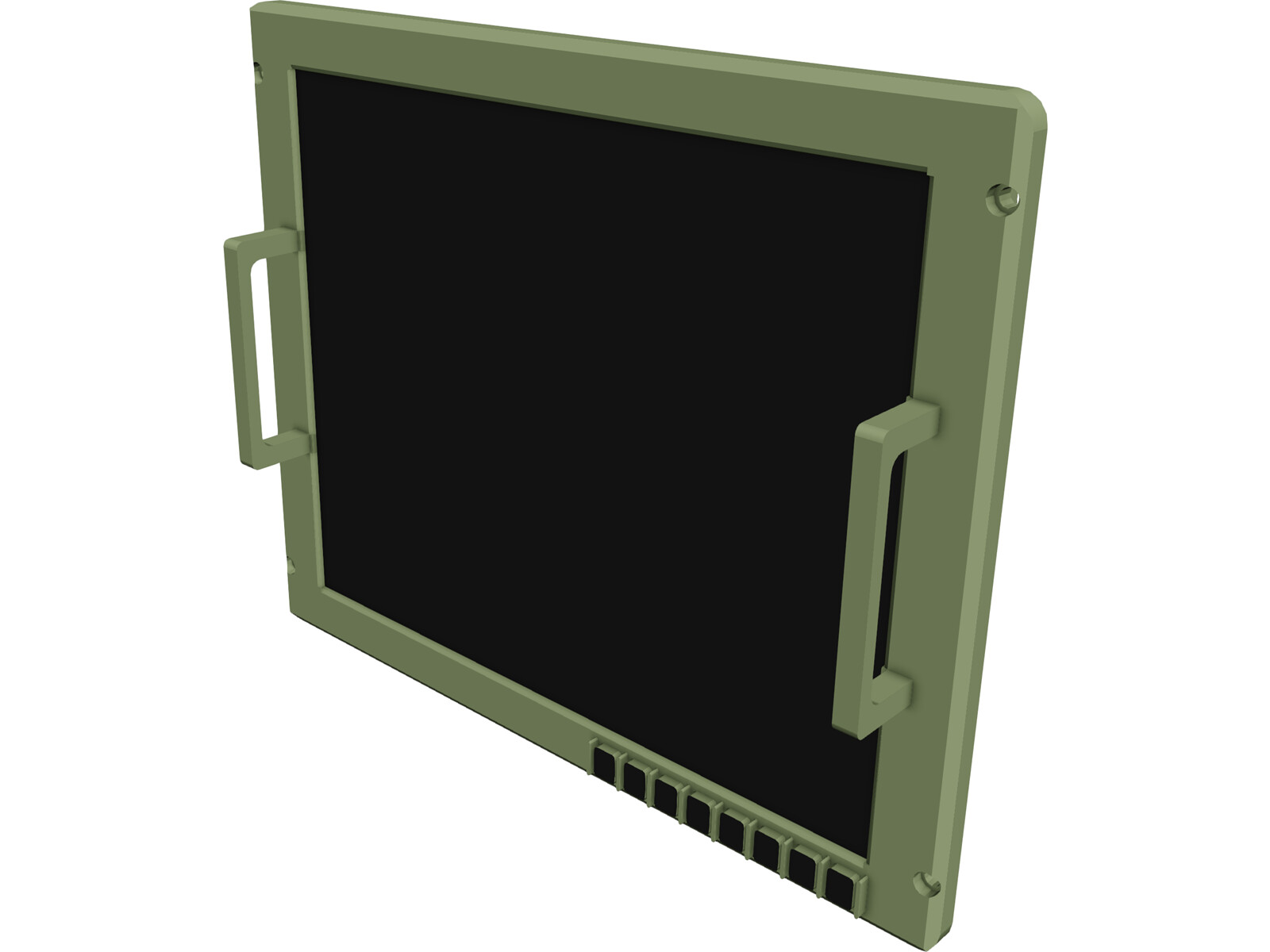 Barco Ruggedised Display 19 Inch 3D Model