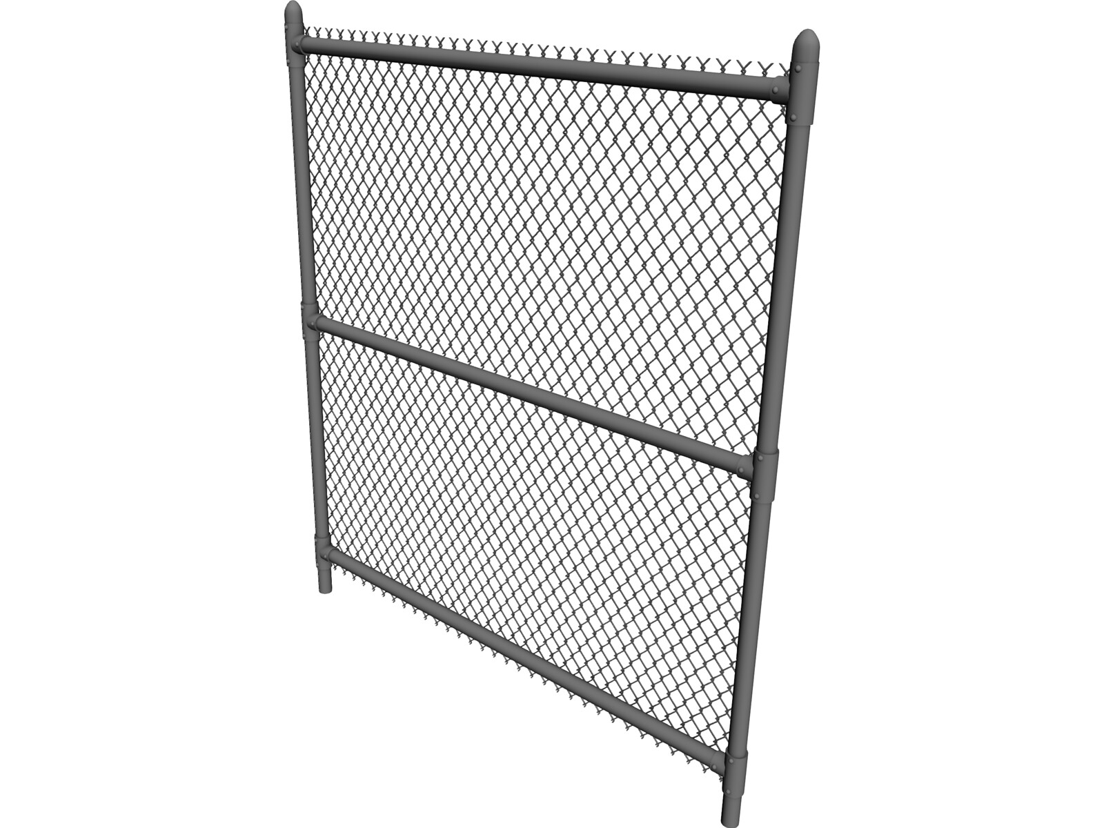 Chain link fence d model cad browser