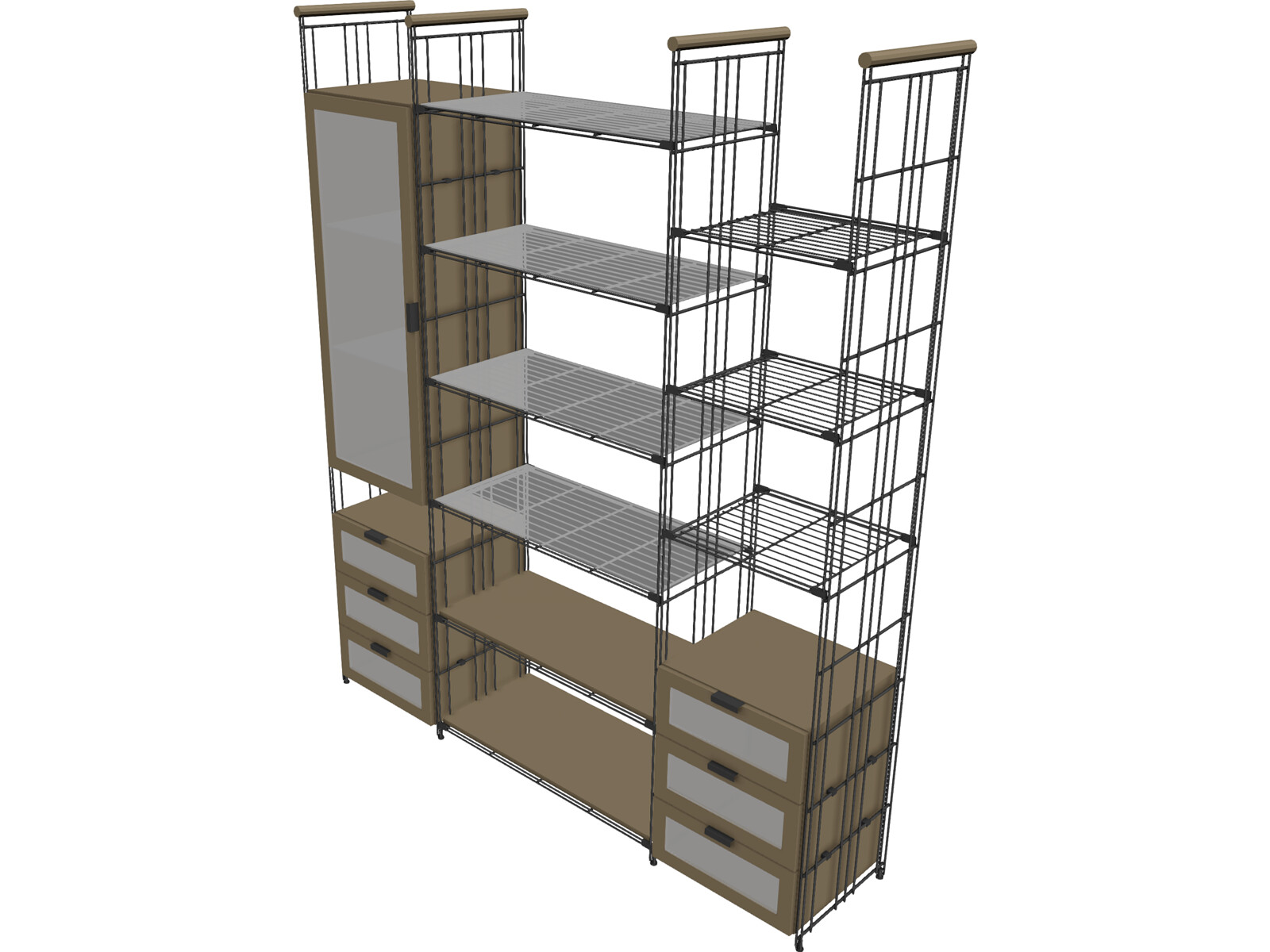 balton regal shelf 3d model 3d cad browser. Black Bedroom Furniture Sets. Home Design Ideas