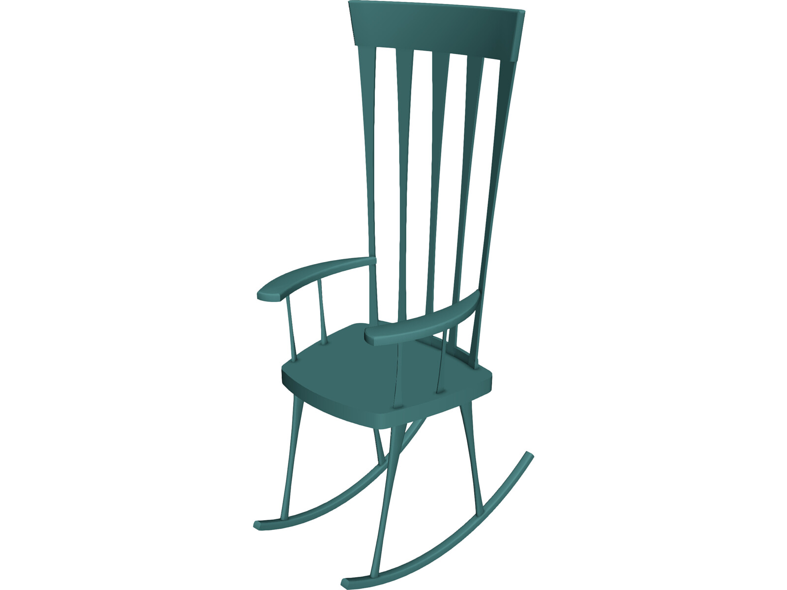 Rocking Chair Clip Art ~ Rocking chair d model cad browser