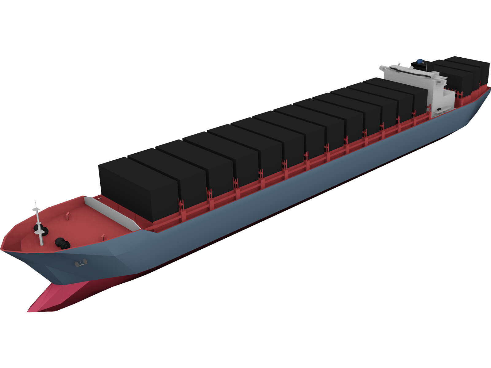 Container Ship 3d Model 3d Cad Browser