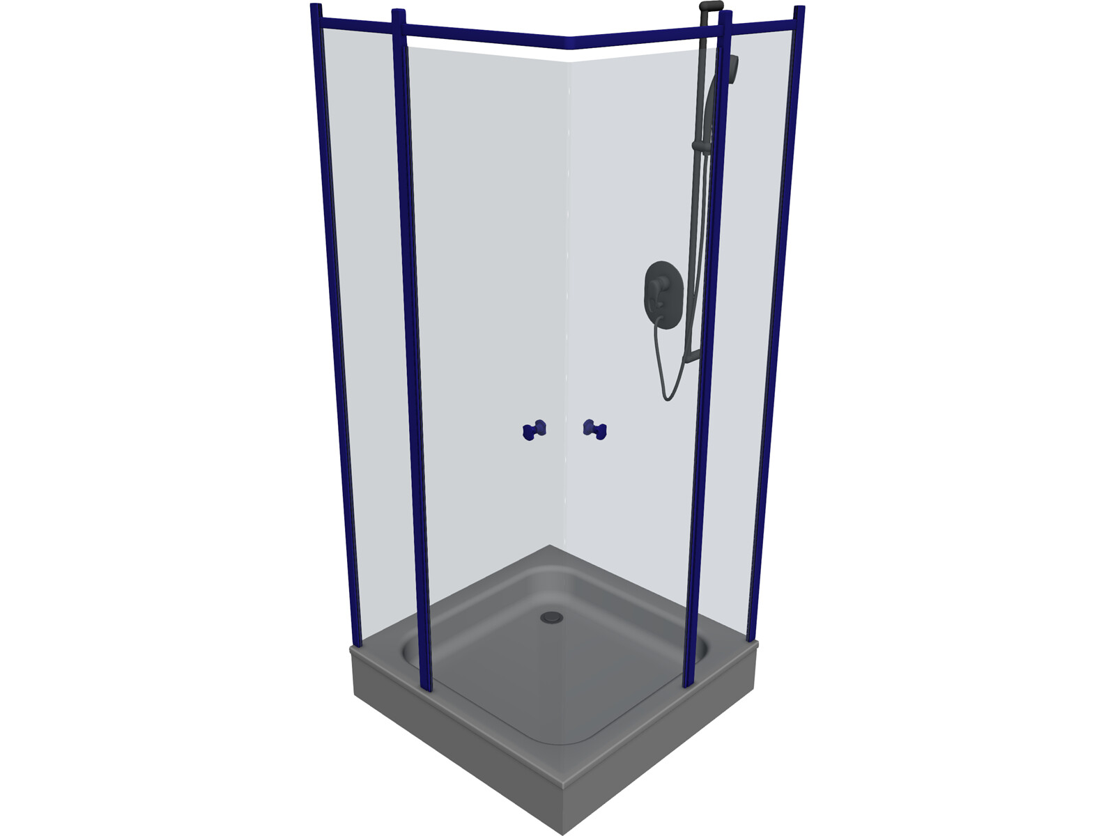 shower free 3d model download 3d cad browser