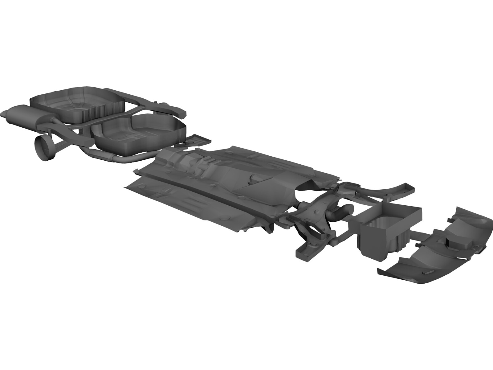 Chassis Volvo S40 (2000) 3D Model