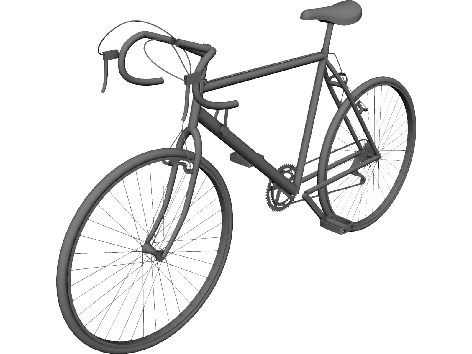 bicycle road 10-speed 3d model
