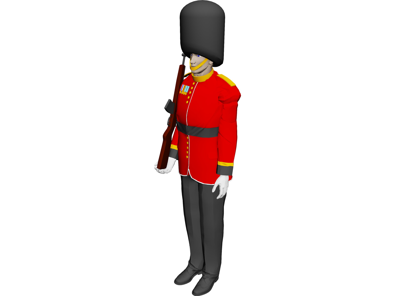 Buckingham Palace Guard 3D Model