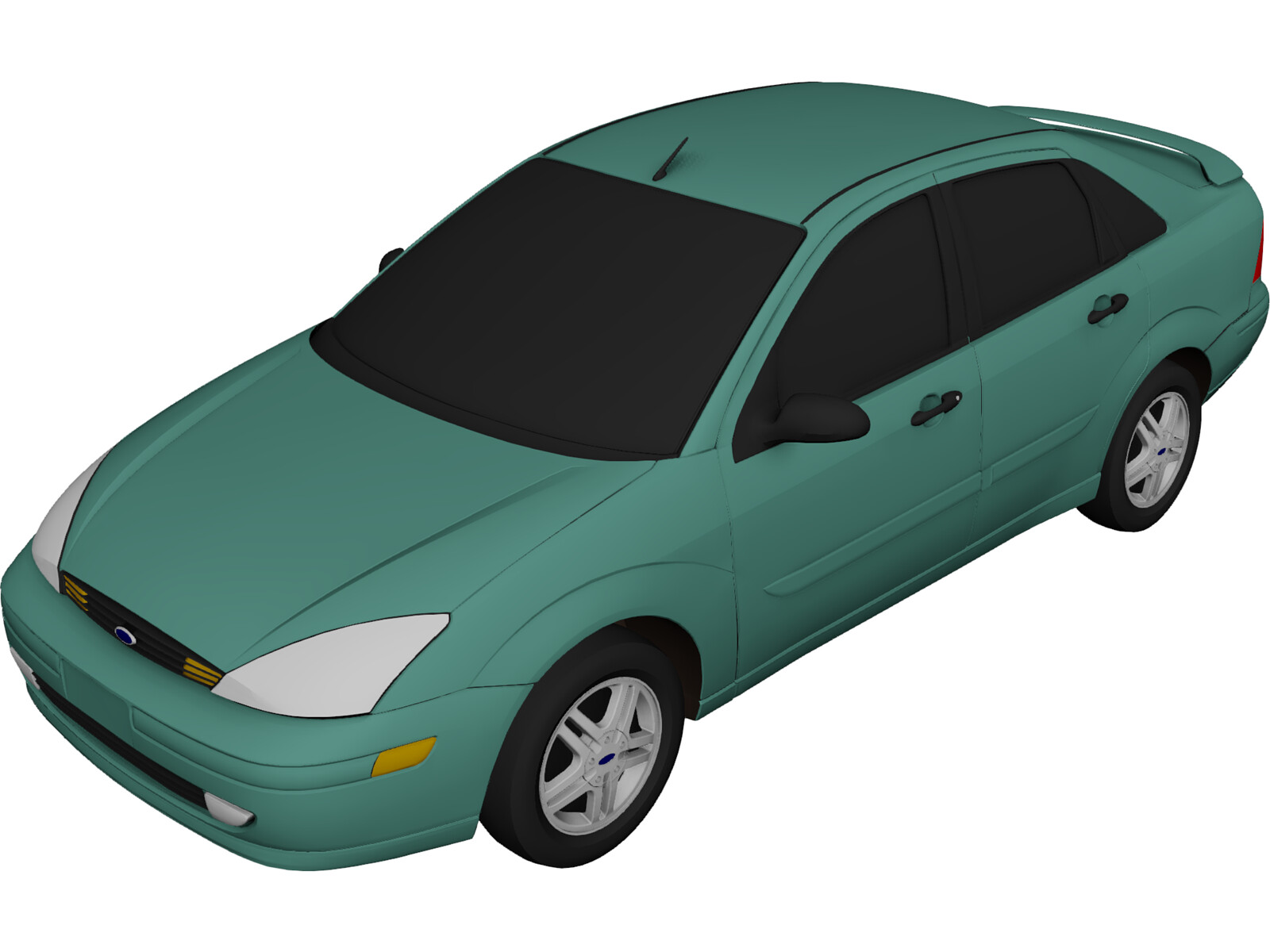 Ford Focus Sedan (2000) 3D Model