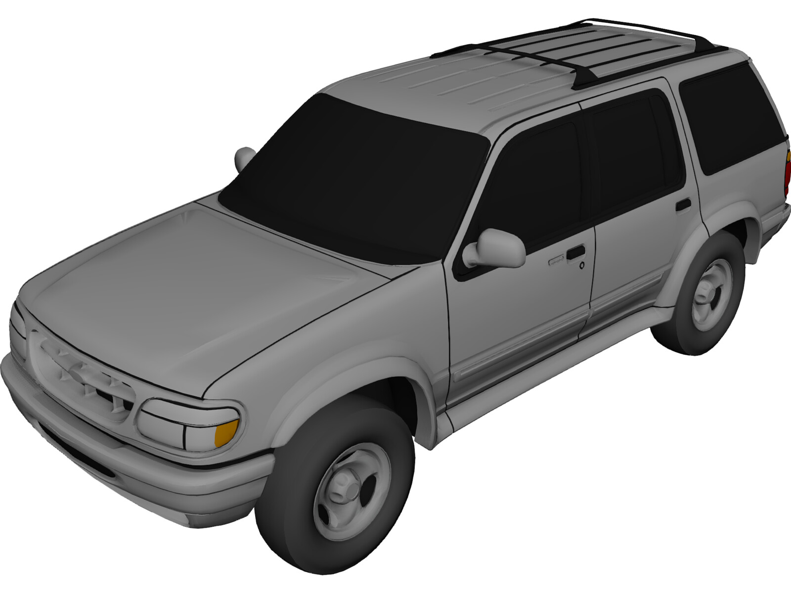Ford Explorer 1996 3d Model 3d Cad Browser