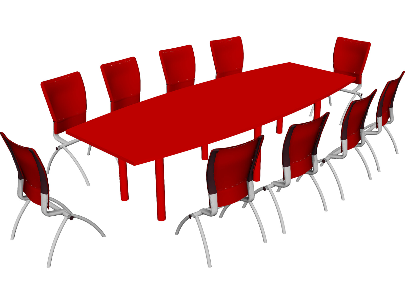 Knoll Conference Table And Chairs D Model D CAD Browser - Red conference table