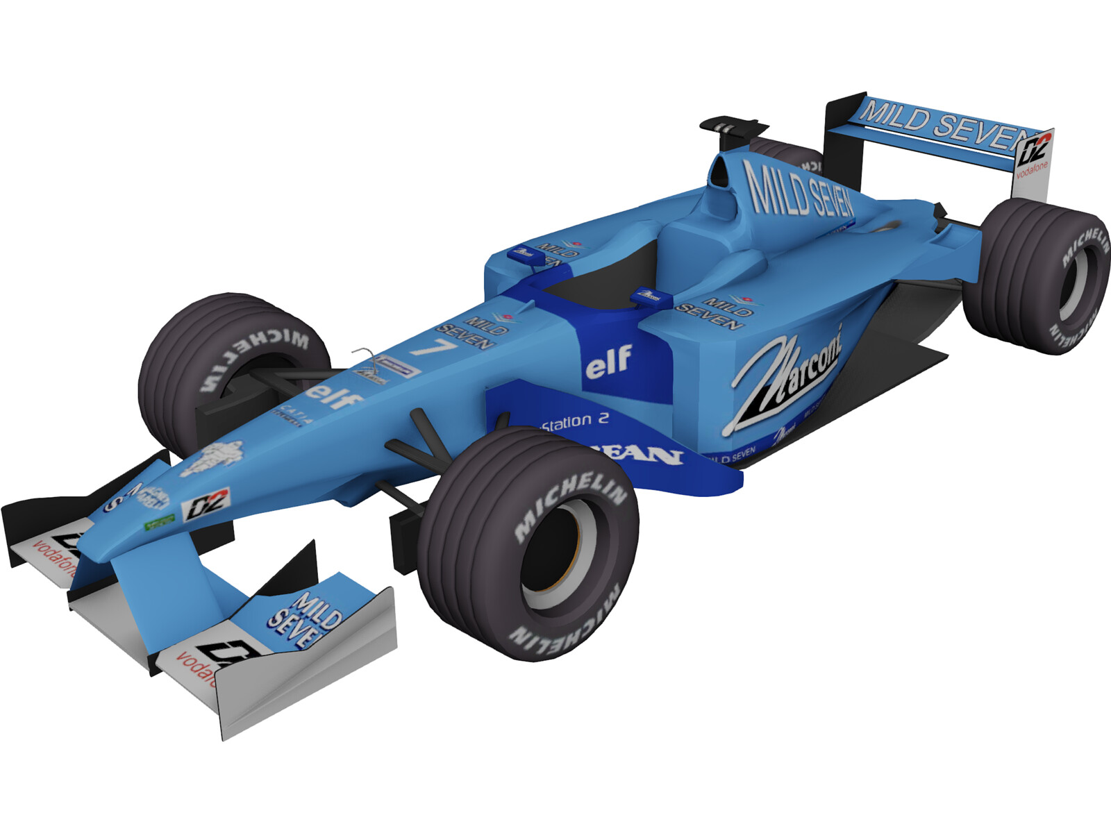 F1 Benetton 2001 3D Model Download  3D CAD Browser