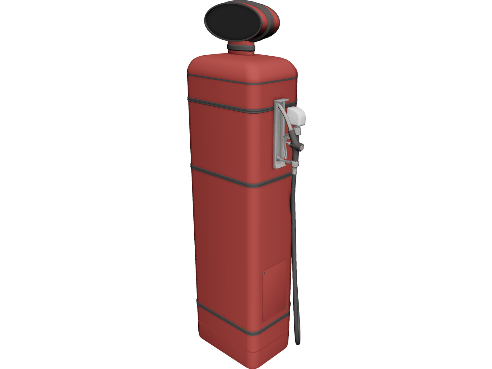 Gas Pump Old 3D Model