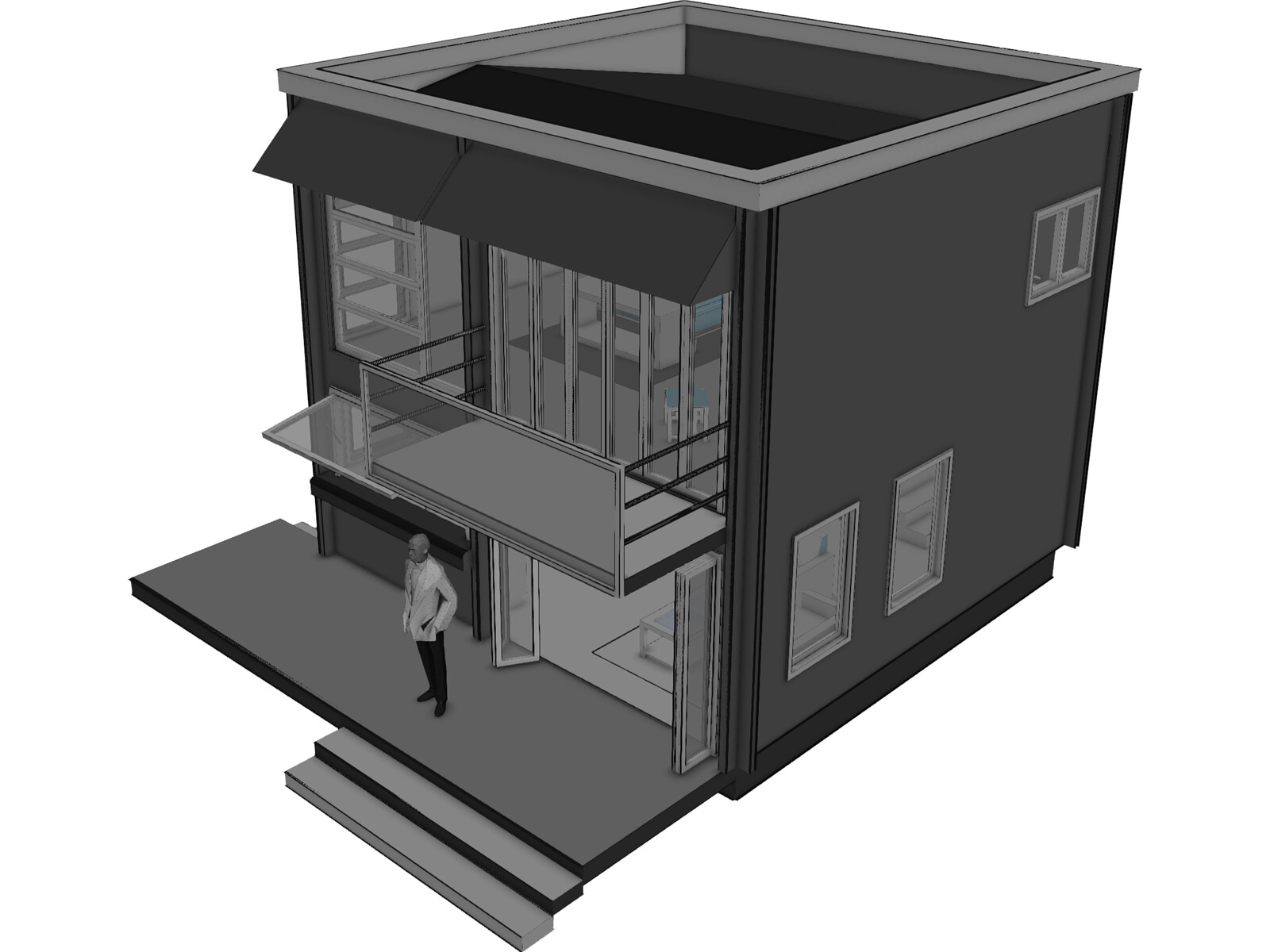 Beach House Model Cad Browser