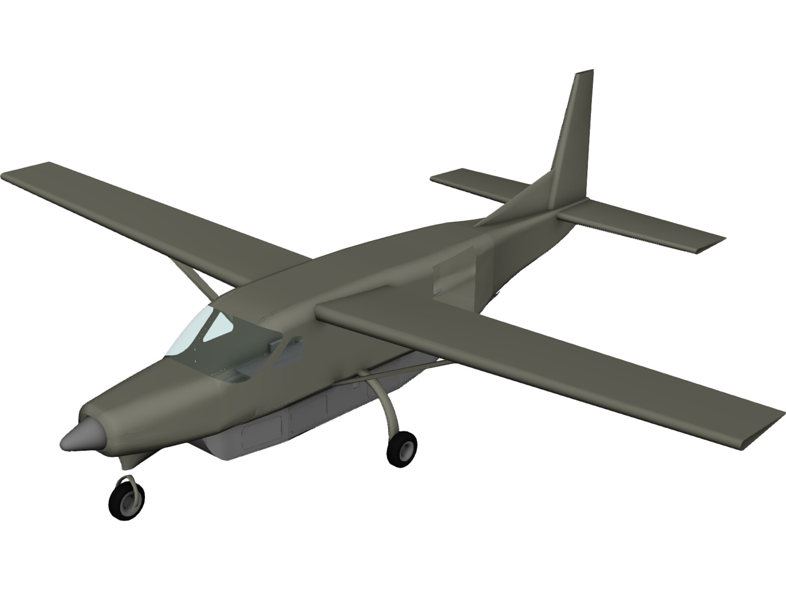 Cessna 208B CargoMaster N124GL with Travel Pod 3D Model