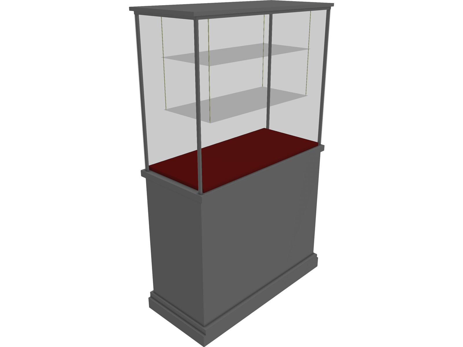 Glass Vitrine with Wooden BaseFree