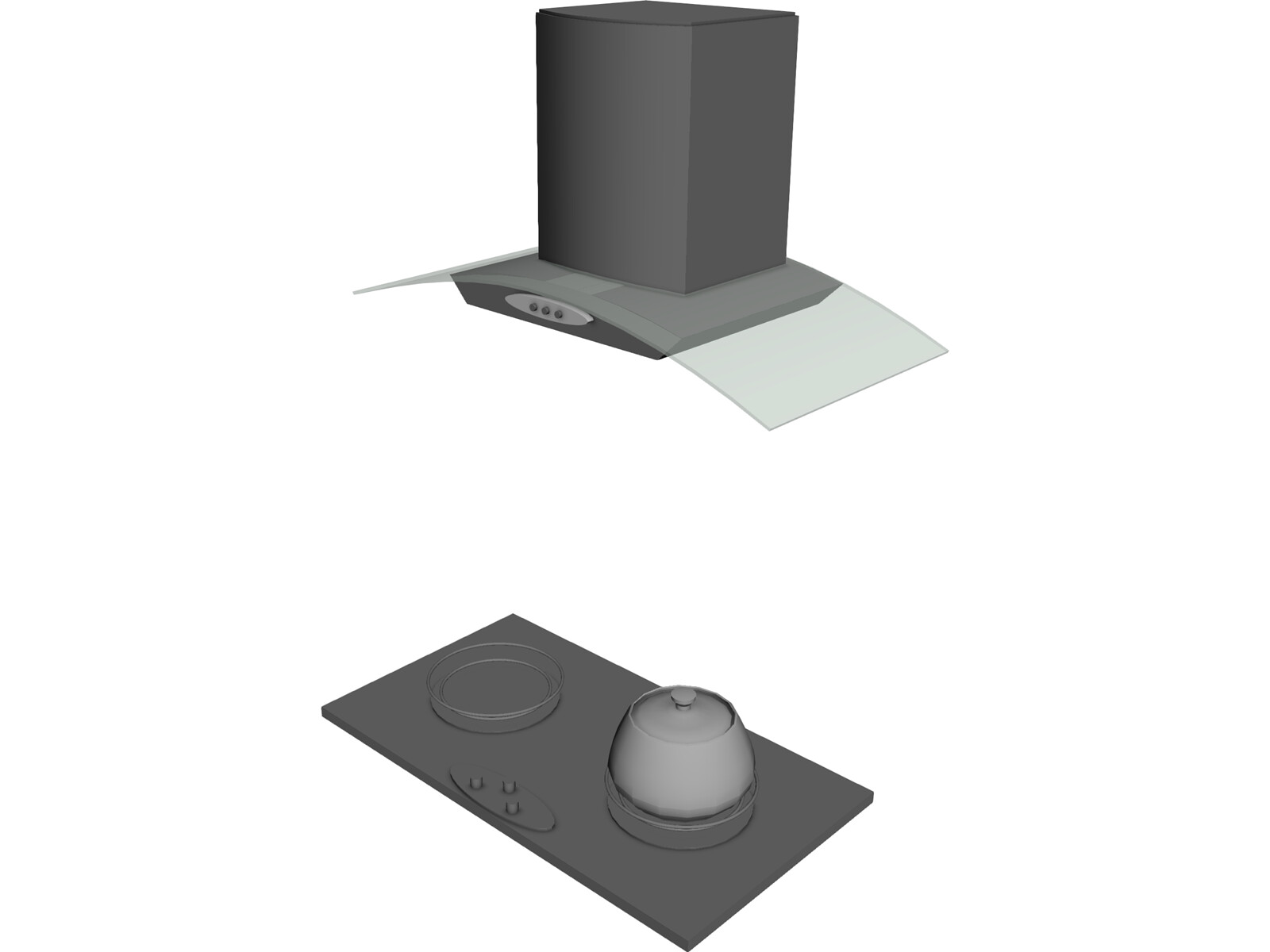 Kitchen Hood Drawing Kitchen Hood 3d Model