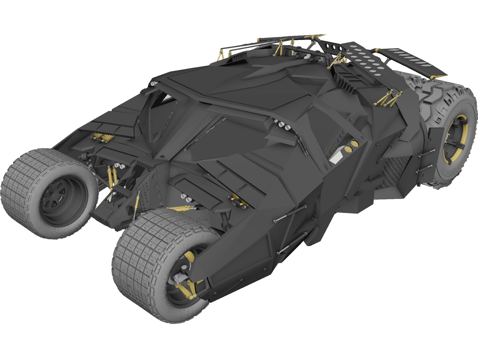 Batman Tumbler Car 3D Model