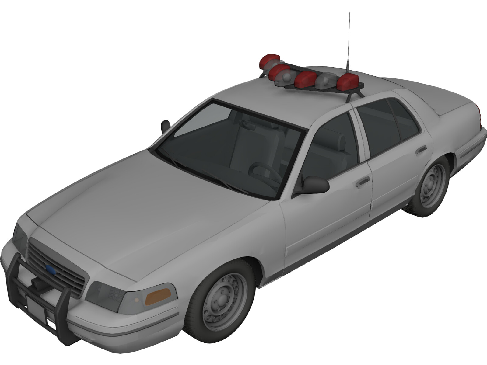 Ford Crown Victoria NYPD Police Interceptor 3D Model