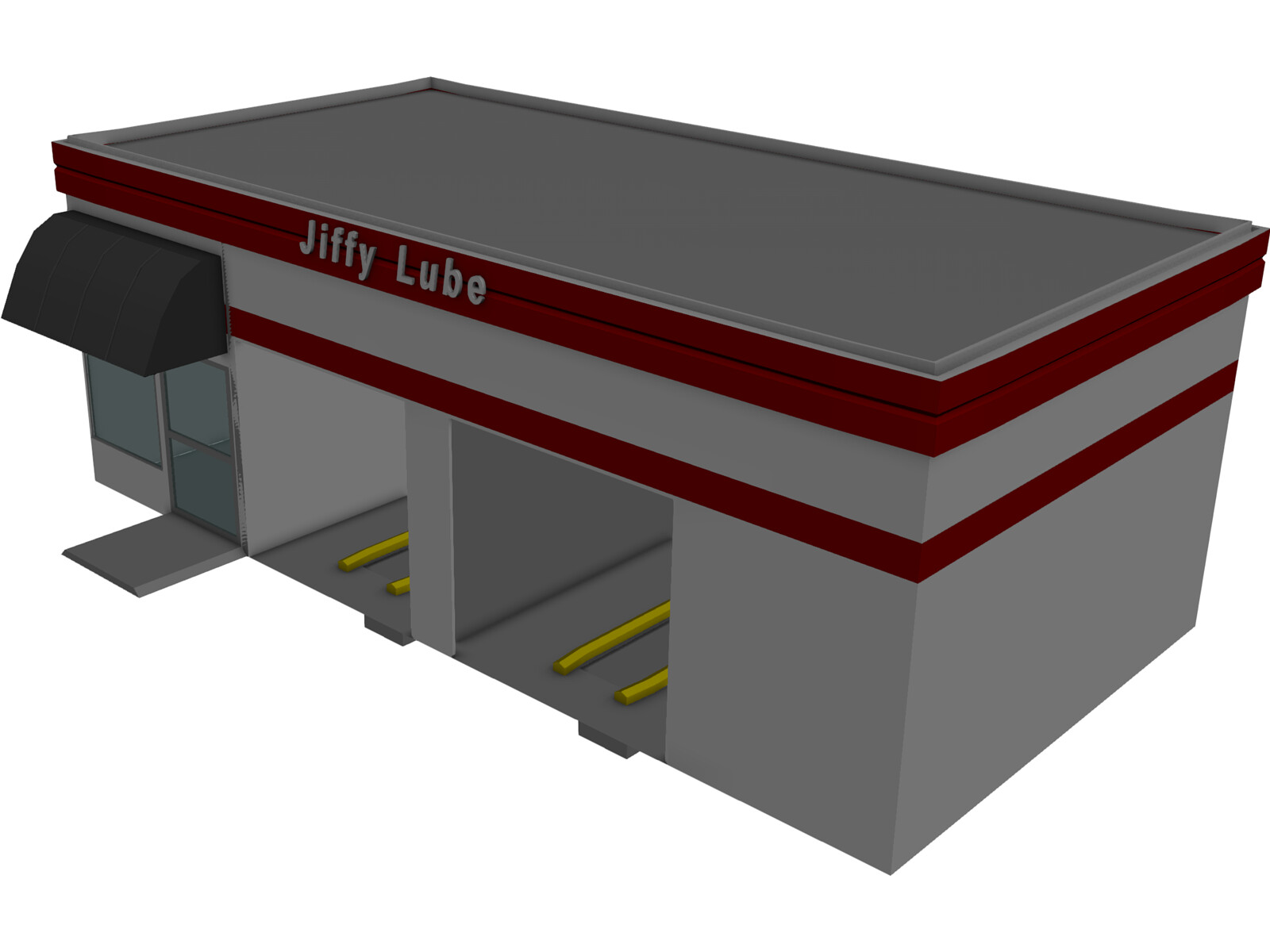 Jiffy Lube Car Repair 3D Model