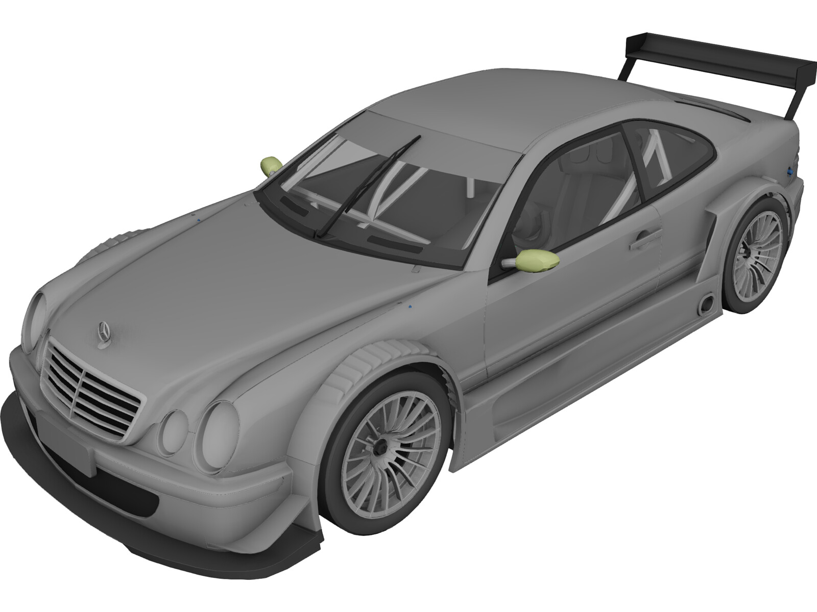 Mercedes-Benz CLK GTR 3D Model