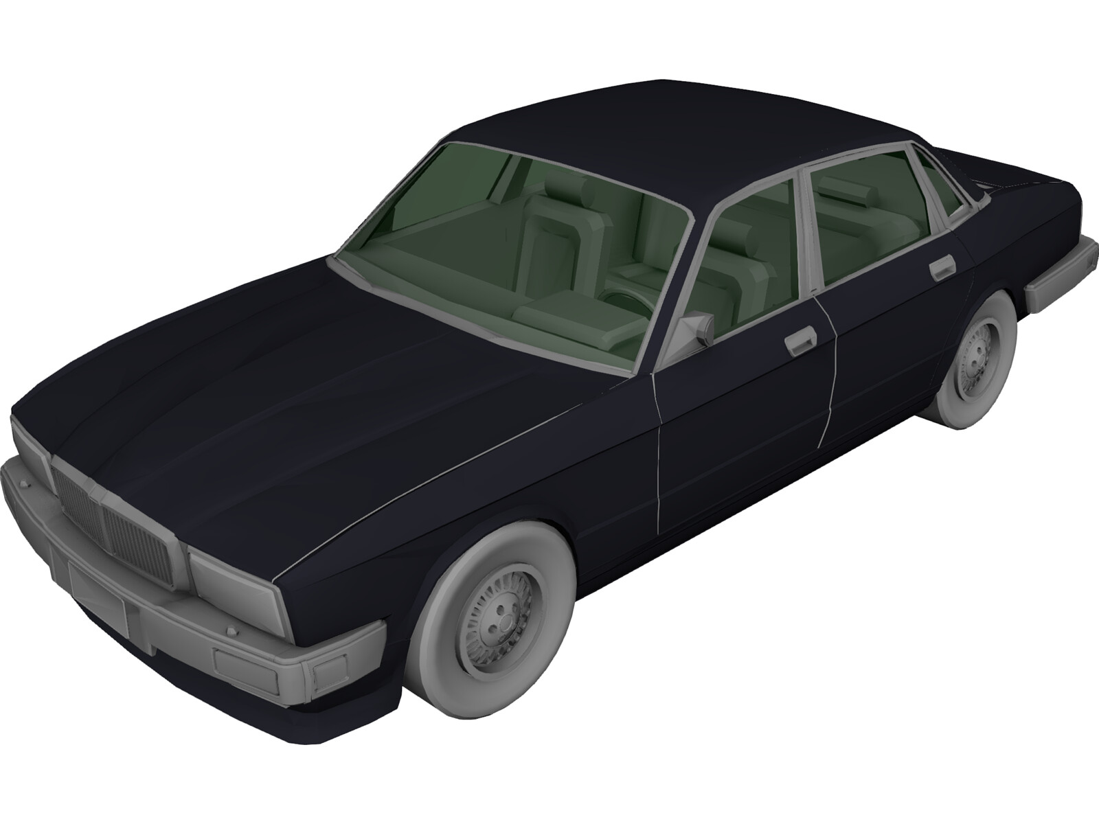 Jaguar XJ6 Sovereign 3D Model