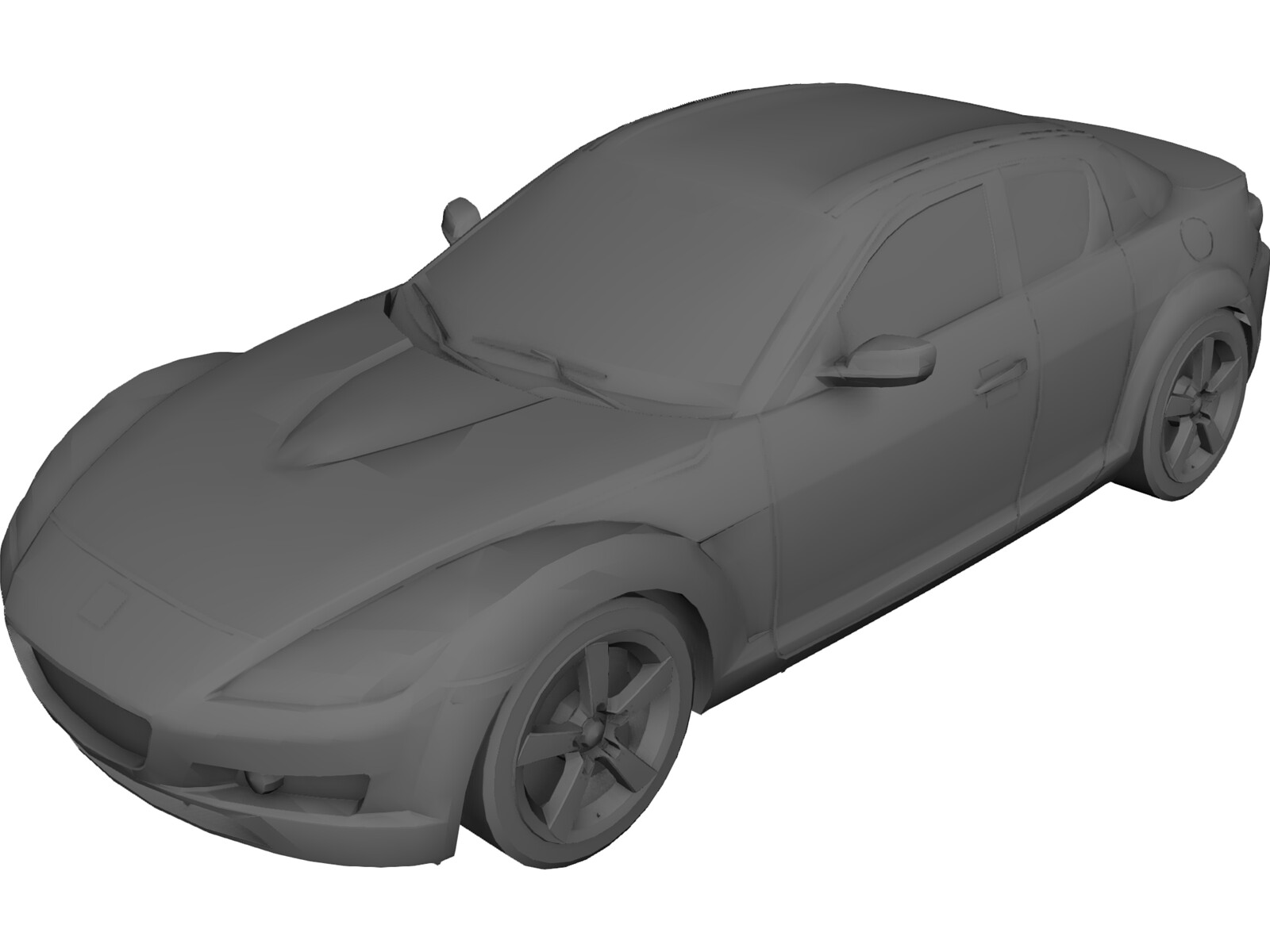 Mazda RX-8 3D Model - 3D CAD Browser