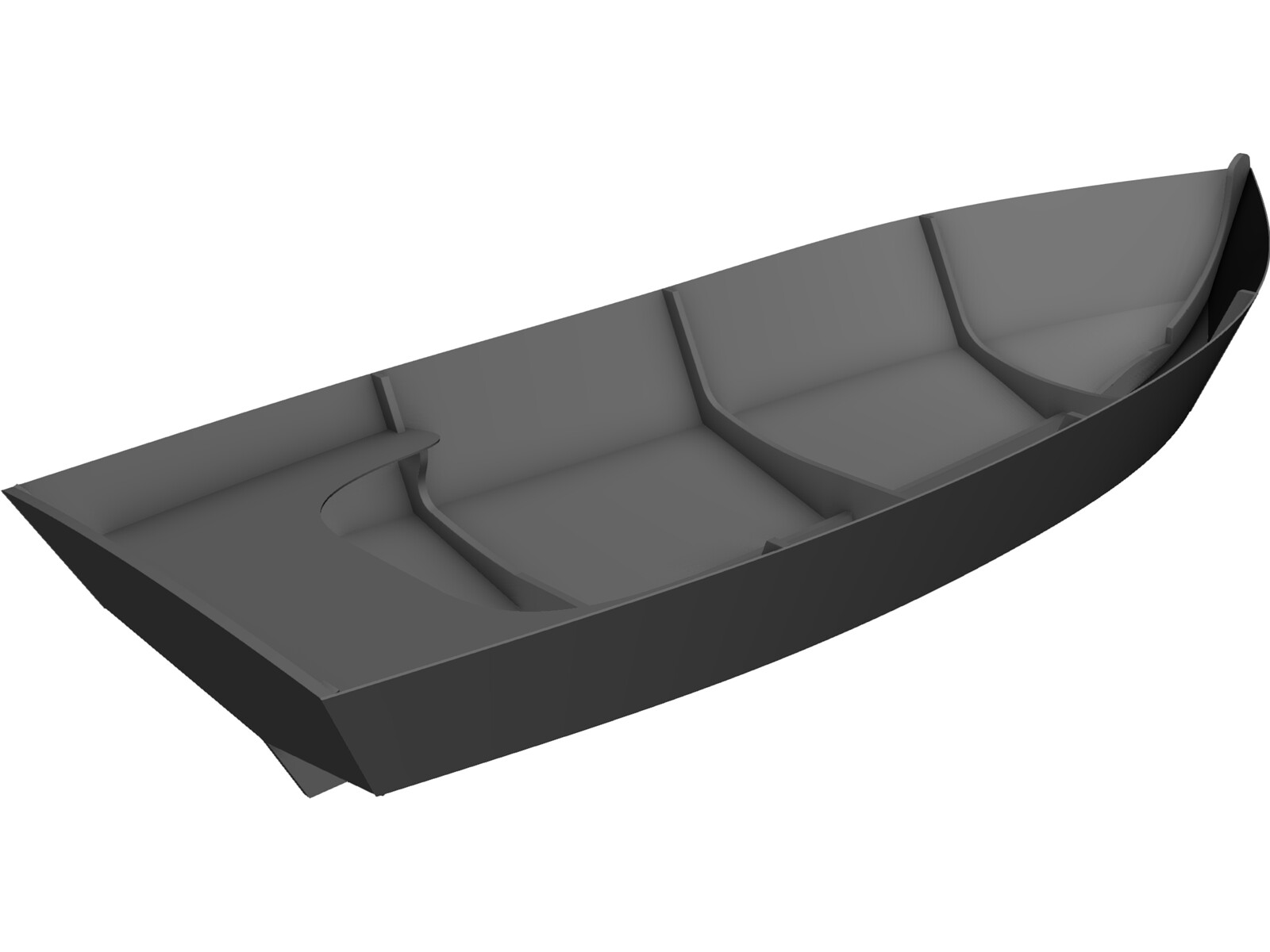Sea Skiff Boat 3D CAD Model