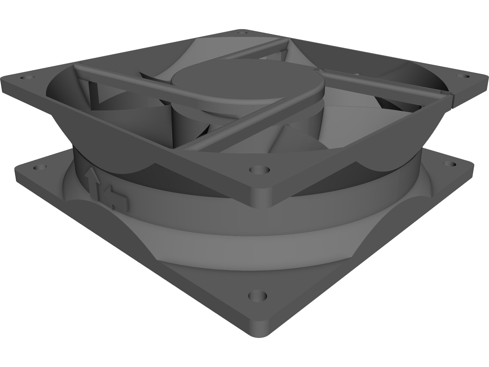 Cooling Fan 3D CAD Model
