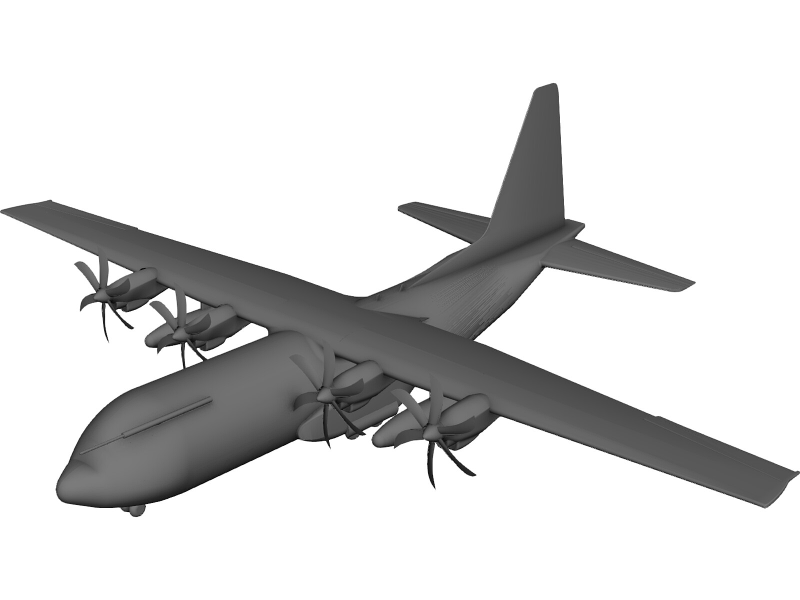 Lockheed C-130 Hercules 3D Model