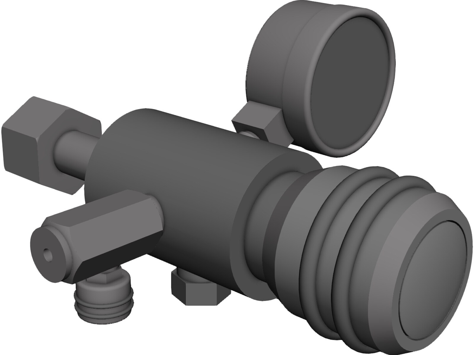 Gas Cylinder Valve Regulator [NURBS] 3D Model