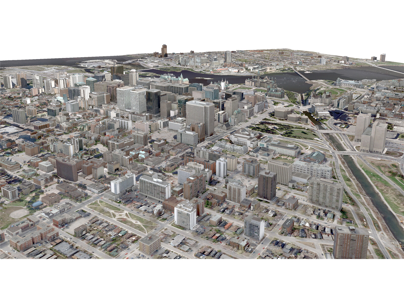 Ottawa City 3D Model