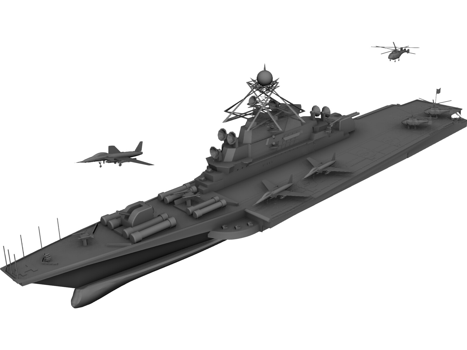 Aircraft Carrier KBNS 3D Model