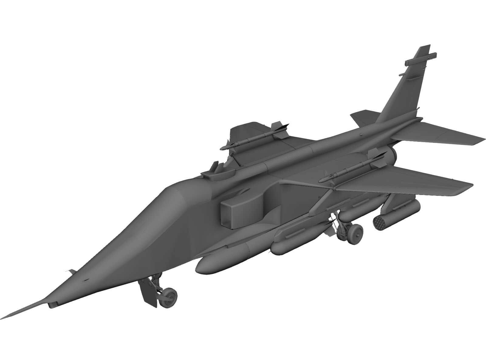 Jaguar GR1 3D CAD Model